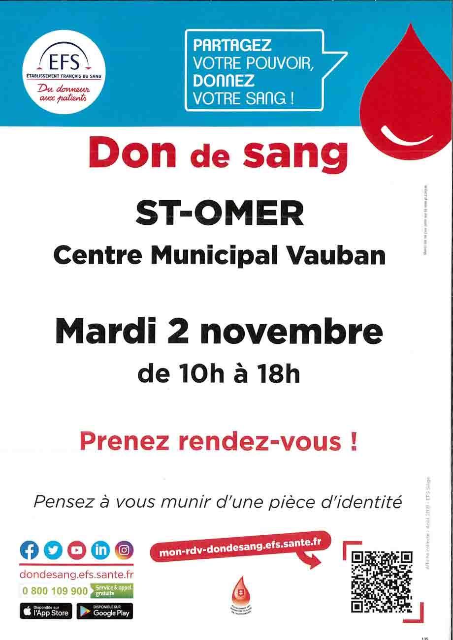 Affiche don du sang novembre