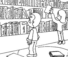Coloriage bibliotheque