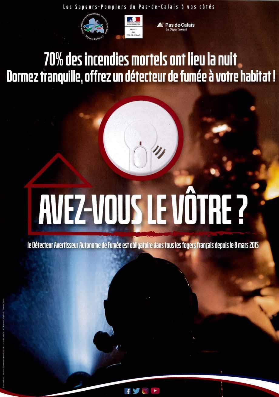 Detecteurs de fumee