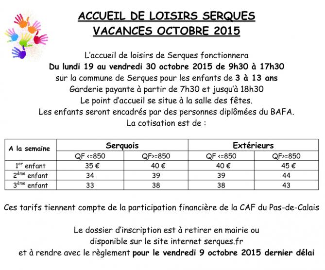 Info alsh serques octobre 2015