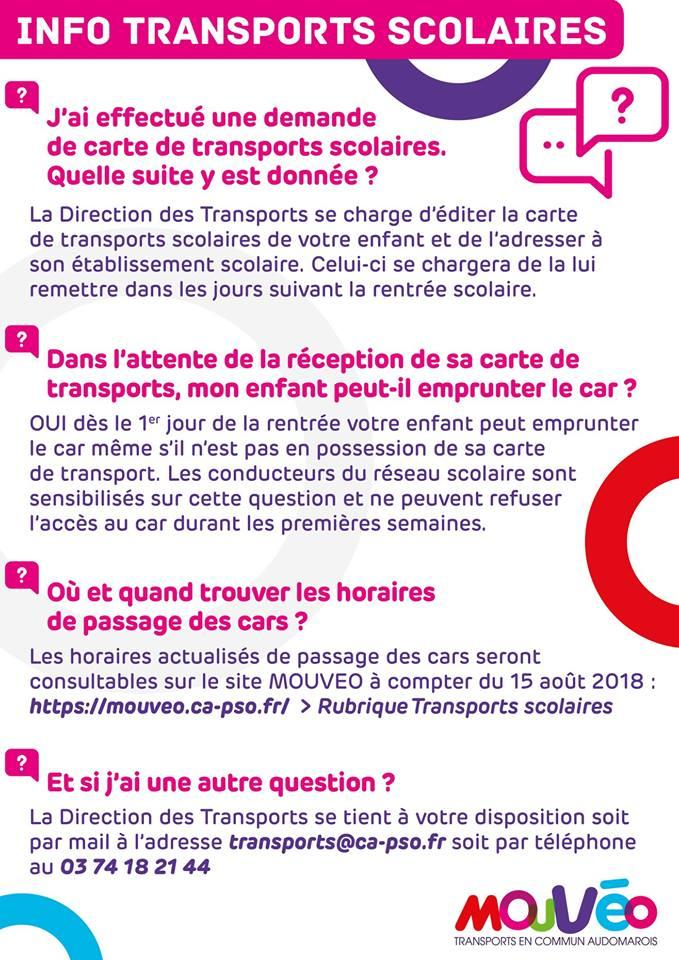 Info transports scolaires