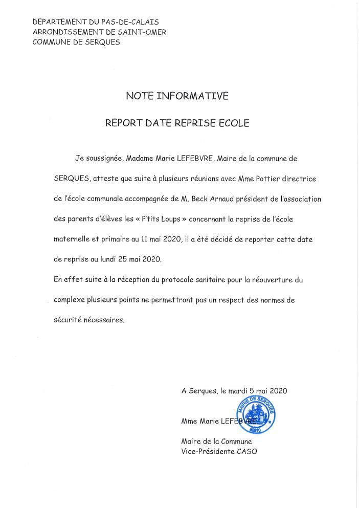Note ecole