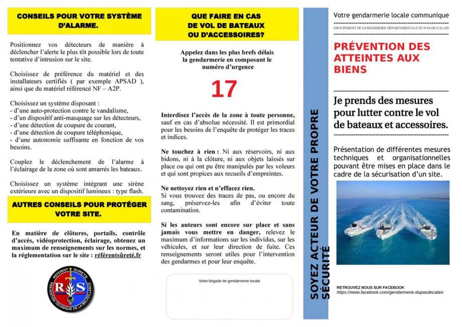 Prevention vol bateau 1